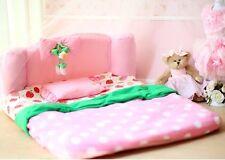 NEW Pink Princess Pet Dog Cat Soft Bed House Sleeping Bed Medium+pillow