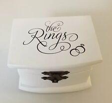 * New - Keepsake Wedding Ring Box - Lillian Rose - White * -Slight Imperfections