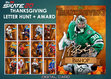 19-20 THANKSGIVING LETTER HUNT SET OF 12 + AWARD Topps NHL Skate Digital Card