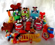 Disney Mattel Mickey Mouse CLUBHOUSE CARS FIGURES ACCESSORIES  33 PC LOT