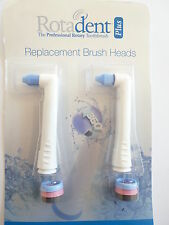 Set of 2 Rotadent PLUS SHORT POINTY Brushhead - BRUSH HEAD Rota Dent FREE SHIP