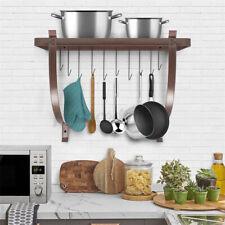 Kitchen Pot and Pan Rack Organizer Storage Wall Holder Cookware 10 Hooks Hanger