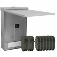 GE 125 Amp 12-Space 24-Circuit Outdoor Load Center Main Breaker Box Panel Kit