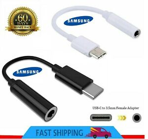 Genuine Samsung USB Type C to 3.5mm AUX Audio Headphone Jack Cable Adapter UK