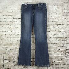 Mossimo Juniors 11 Jeans Stretch Cotton Boot Cut Medium Wash Distressed