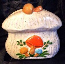 70's Mushroom Napkin Holder Ceramic Vintage Hobbyist Kitchen Accent Woodland
