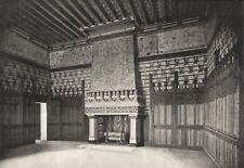 OISE. Pierrefonds. Chambre a Coucher du Seigneur 1895 old antique print