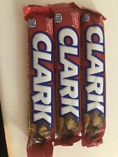 3 Full Size Boyer Clark Bars Candy 2 OZ Chocolate With Peanut Butter Crunch