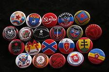 "21 Lot Ukraine Russia Lugansk Donetsk Crimea Civil War Army 1"" Button Badge Pin"