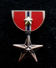 BRONZE STAR 2ND AWARD MEDAL RIBBON LAPEL HAT PIN US ARMY MARINES NAVY AIR FORCE
