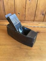 """Vintage Carpenters Small Wooden Block Plane Bench Plane - Stamped """"Warranted ?"""""""