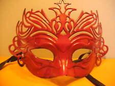 venezianische Maske Kunststoff rot mit Bindeband