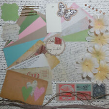 "Card Making Kit ""Post Cards"" Paper & Embellishments to Make 5 Cards"