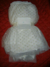 New Beautiful Pottery Barn Baby Gold Tulle Crib Skirt