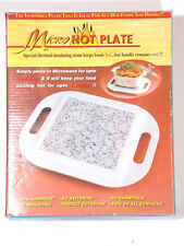 NEW ~ MICRO HOT PLATE Microwavable Stone Serving Tray ~Keeps Food Hot!