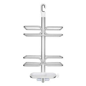 Oxo Good Grips Rust Proof Aluminum 3 Tier Hanging Bathroom Shower Caddy Bathtub