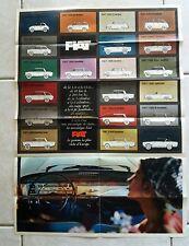 Fiat Brochure Poster Gamma 500 600 Multipla 1500 cabriolet 2300 coupé etc 1968 c