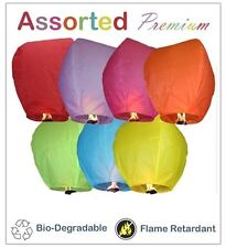 (50) Assorted Chinese Lanterns Sky Fly Candle Lamp for Parties, Anniversary