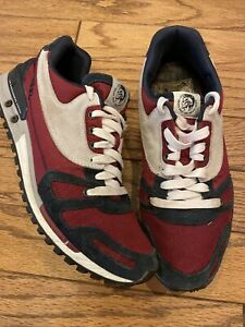 DIESEL ~ Navy Blue, Red & White Fashion Sneakers Shoes ~ Men's Size US 9