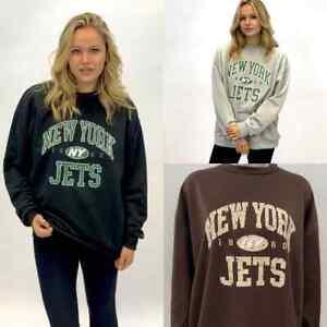 "Women's Ladies ""NEW YORK JETS""  Printed On Front Oversized Sweatshirt Top"