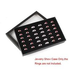 36 Slots Ring Jewelry Display Storage Box Tray Showcase Organiser Earring Holder