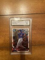 2018 Bowman Chrome Bo Bichette RC Graded 10 Gem Mint