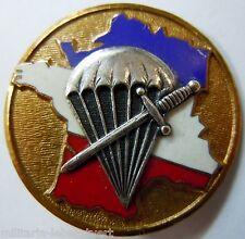 Insigne Parachutiste 1° Bataillon de Choc Courtois ORIGINAL France TAP Commando