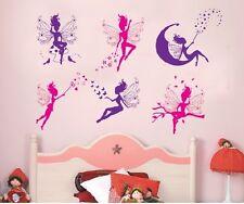 6 Magic Morado De Hadas Calcomanías De Pared Vinilo Niños Dormitorio Infantil 50cm X 70cm
