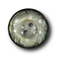 8 glamouröse schwarz silber grau perlmuttartige Knöpfe mit Gold Glitter (4282sg)