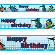 180in Thomas The Tank Engine Happy Birthday Party Banner