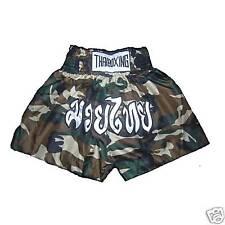 New MUAY THAI KICK BOXING Shorts (ARMY)Satin