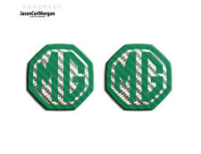 MG ZS MK1 Badge Inserts Front Grill Rear Boot MG Logo Badges 59mm Green Carbon