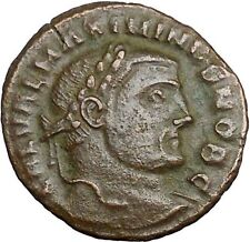 MAXIMINUS II Daia 305AD Ancient Roman Coin Nude GENIUS Protection Wealth  i33854