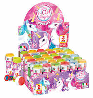 6 Unicorn Bubble Liquid Tubs - Pinata Toy Loot/Party Bag Fillers Wedding/Kids