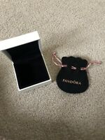Genuine Pandora Large Gift Box And Small Black Bag / Pouch
