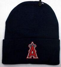 READ LISTING! Los Angeles Angels HEAT Applied Flat Logo on Beanie Knit Cap hat