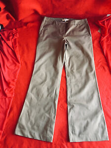 Ann Taylor LOFT Gray Signature Straight Through Pants Boot Leg Size 8 N Without