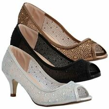Unbranded Patternless Court Textile Heels for Women