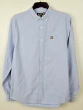 LYLE & SCOTT Vtg Men's L Casual Shirt Long Sleeved Formal 100% Cotton Button Up