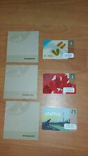 Starbucks lot of 3 blank cards with Envelopes Florida Canada Seattle