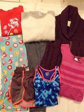 Girls Clothes Size 10/12 ~ Sweaters, PJ's, Dress, Leggings, Shorts