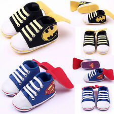 Superman Baby Boy Trainers Crib Shoes Newborn Infant Toddler Prewalkers Sneakers