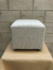 Upholstered footstool / pouffe / seat