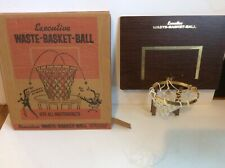 Vintage Executive Waste Basket Ball Hoop in Original Box