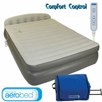 COLEMAN AEROBED QUEEN DOUBLE HEIGHT HEADBOARD  AIR BED- 240V PUMP