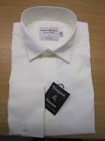 Simpson & Ruxton Plain CREAM Victorian Wing Collar Dress Shirt -Poly Cotton
