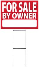 "Large (18""x24"") For Sale By Owner - RED - Sign Kit with Stand"