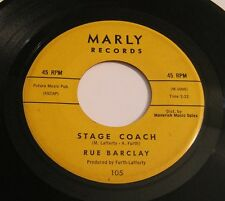 RUE BARCLAY - Stage Coach/Dark Clouds 45 MARLY 105 Novelty Popcorn