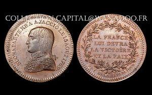 Jeton Directoire- Bonaparte né à Ajaccio 1769. Victoire et Paix. L'An 6. Bronze