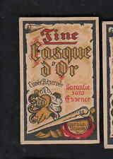 Ancienne  étiquette allumettes Belgique   BN8358 Fine Casque d'or  Alcool 1